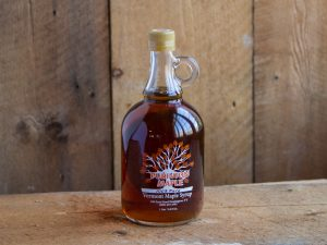 vermont maple syrup glass bottle