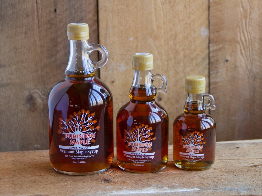 vermont maple syrup glass bottle collection