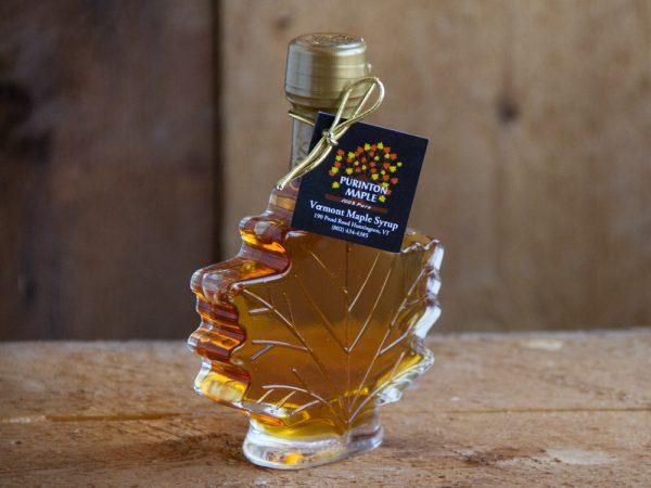 maple syrup maple leaf shaped bottle