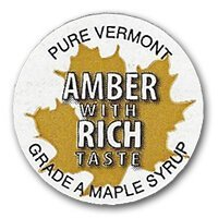 amber with rich taste badge