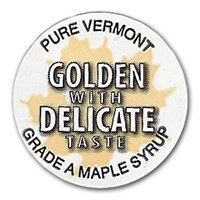 Golden with delicate taste badge