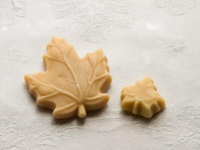 maple sugar candy maple leaf large and small