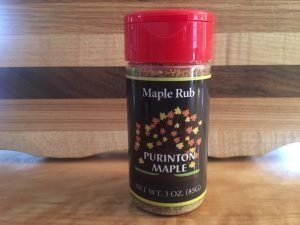 maple sugar rub in a shaker
