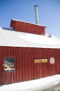 the outside of the Purinton sugarhouse