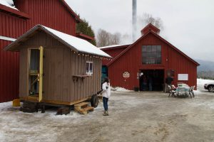 outside the Purinton sugarhouse in vermont